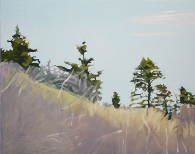 "Liz Hoag | The Bluff | acrylic | 24"" X 30"" | Sold"