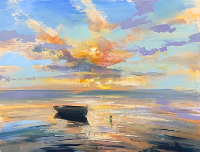 """Craig Mooney   Low Tide Idyll   Oil on Canvas   36"""" X 48""""   Sold"""