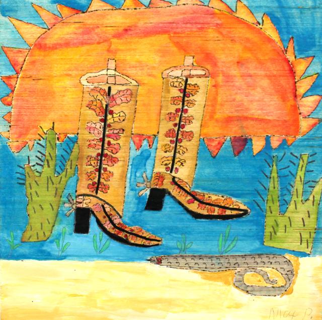 Snake Skin Boots (FRAMED)