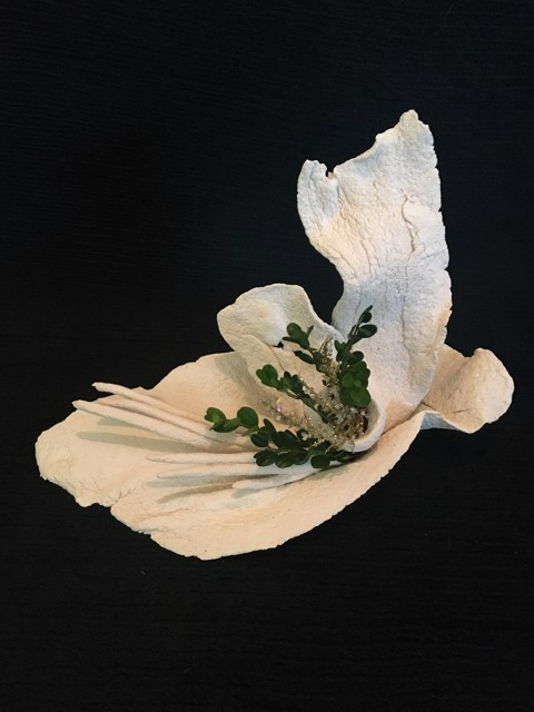 """Diane Carten Lynch   Ghost Coral Tall Assemblage   Ceramic   12"""" X 16""""   $125.00"""