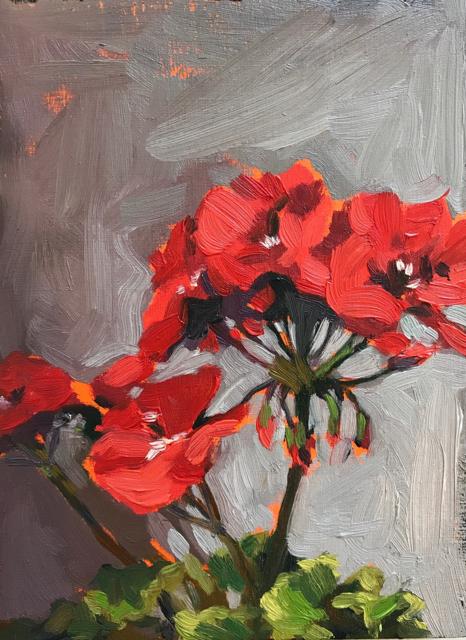 "Margaret Gerding | Day 12 (Geranium) | Oil on Panel | 8"" X 6"" | $750.00"