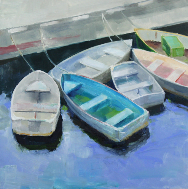 "Ellen Welch Granter | Tenders | Oil on Panel | 20"" X 20"" | $2,000.00"