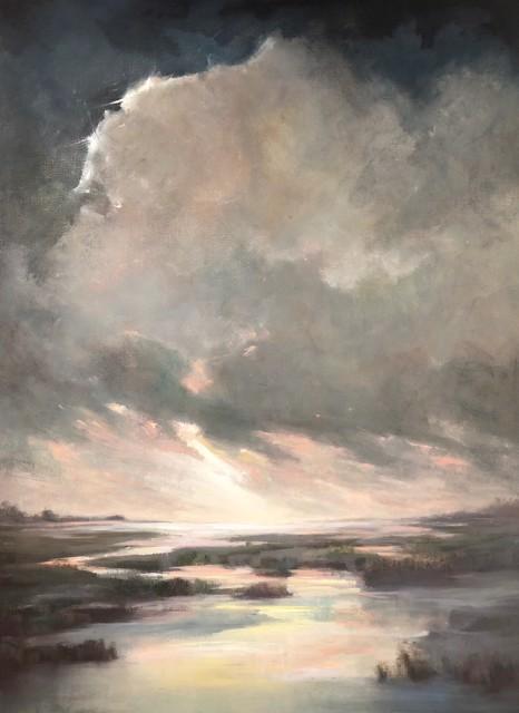 "Julie Houck | New Beginnings | Oil on Linen | 31"" X 23"" | Sold"