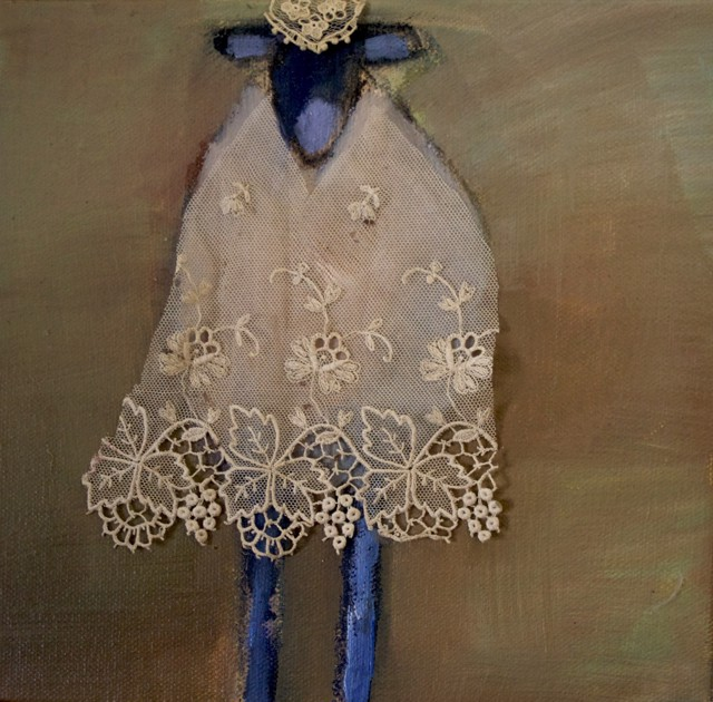 "Claire Bigbee | Annie | Oil and Lace | 8"" X 8"" 
