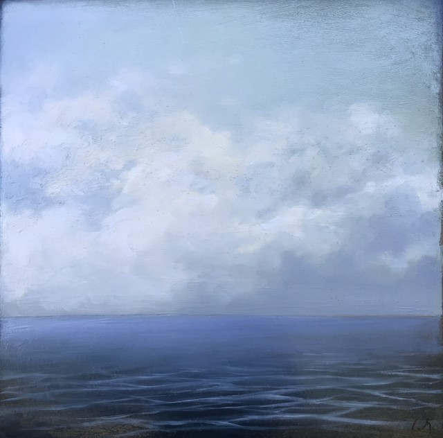 "Margaret Gerding | Fading Cloud | Oil on Panel | 16"" X 16"" 