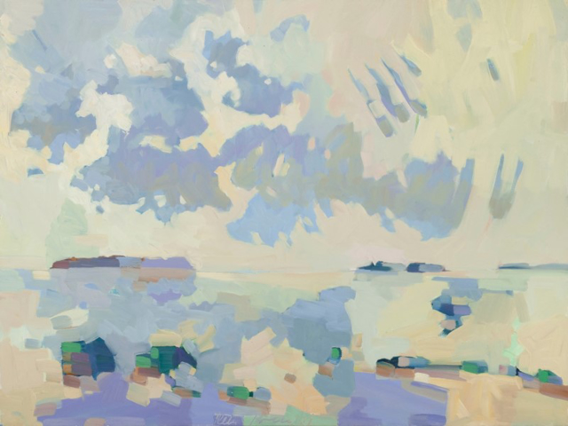 "Henry Isaacs | View South from Cranberry Island #2 | Oil on Linen | 30"" X 40"" 