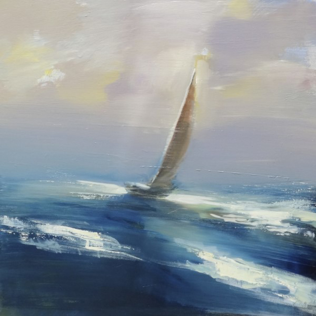 "Craig Mooney | Day Sailor | Oil | 24"" X 24"" 