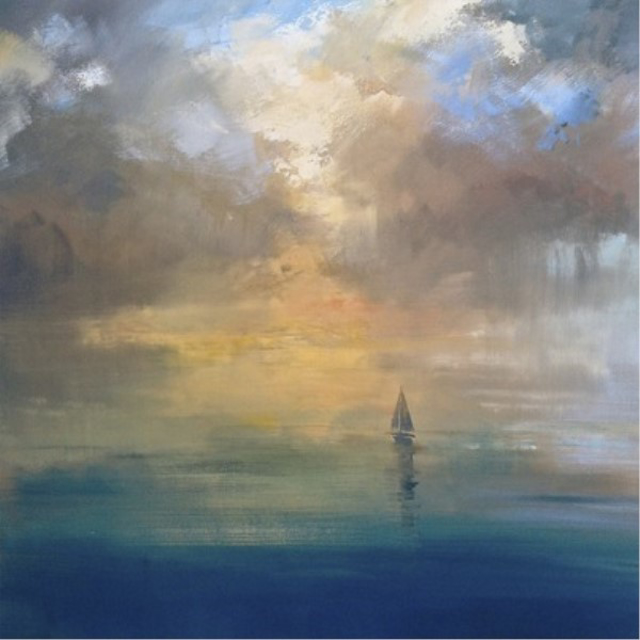 "Craig Mooney | Fantastic Voyage | Oil | 40"" X 40"" | Sold"