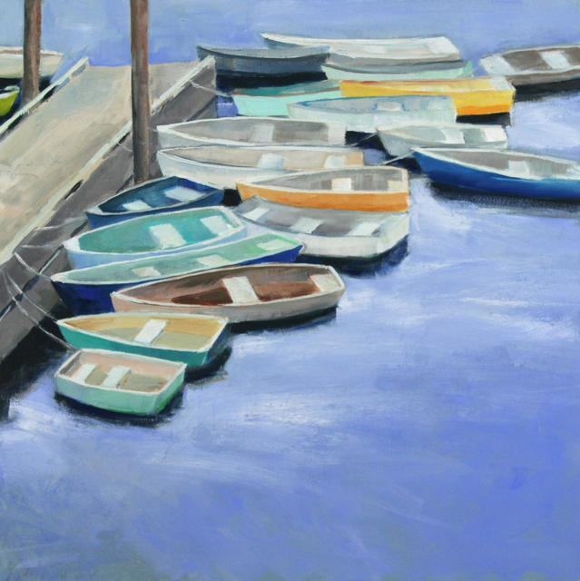 "Ellen Welch Granter | Docked | Oil on Panel | 20"" X 20"" | $2,000.00"