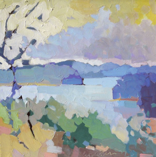 "Henry Isaacs | Lake, Northeast Kingdom | Oil | 16"" X 16"" 