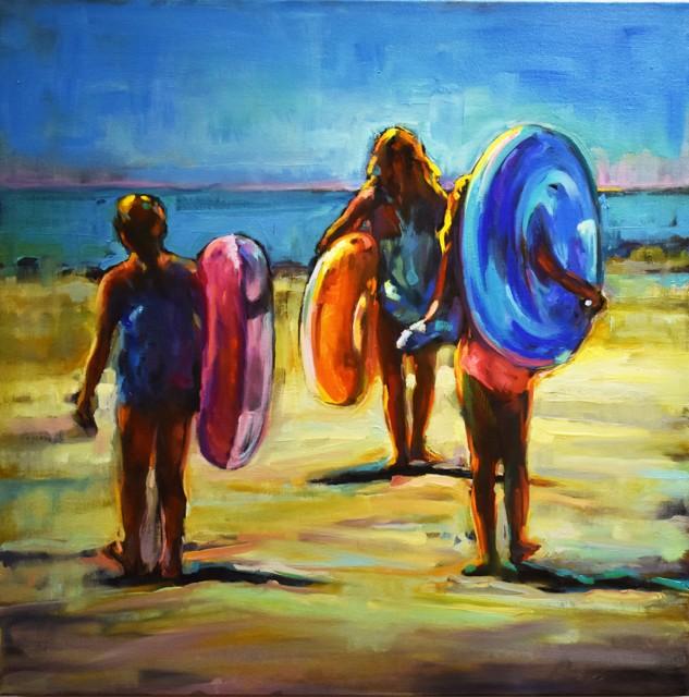 "Karen Bruson | Follow Me | Oil on Canvas | 24"" X 24"" | Sold"