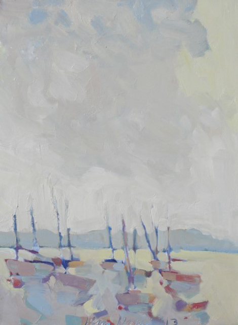 "Henry Isaacs | Boats | Oil on Canvas | 24"" X 18"" 