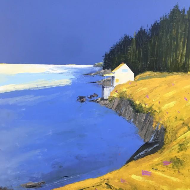 "Janis H. Sanders   Bayside Sun   Oil on Panel   36"" X 36""   $5,600.00"