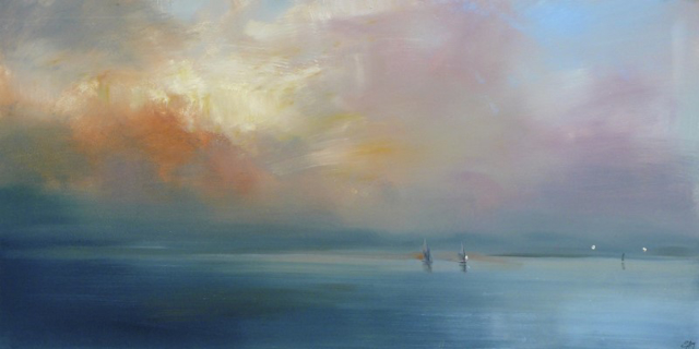 "Craig Mooney | Island Lights | Oil | 24"" X 48"" 