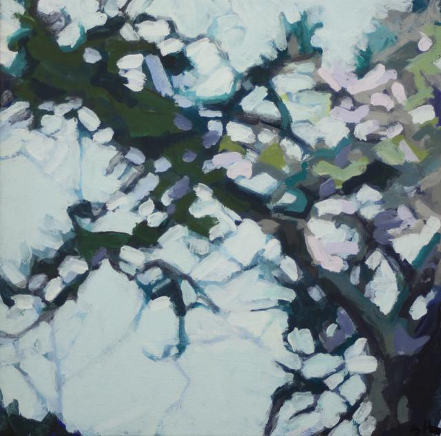 "Liz Hoag | Limbs VI | acrylic | 12"" X 12"" | Sold"