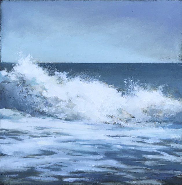 "Margaret Gerding | Wave Study | Oil on Panel | 10"" X 10"" 