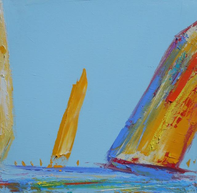 "Janis H. Sanders | Summer Sail III | Oil on Canvas | 12"" X 12"" | Sold"