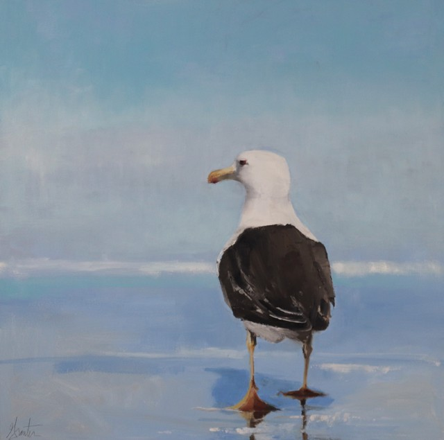 "Ellen Welch Granter | On The Lookout | Oil on Canvas | 24"" X 24"" 