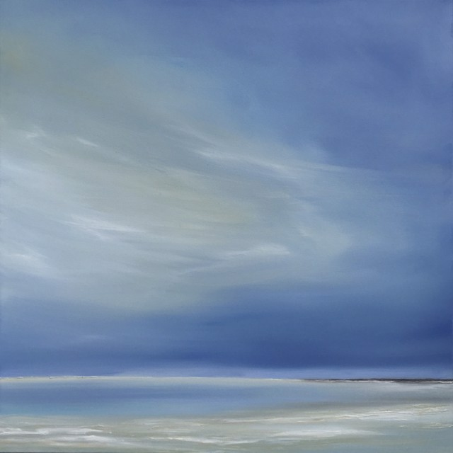 "Jennifer Clement | Life's a Beach | Oil on Canvas | 40"" X 40"" 