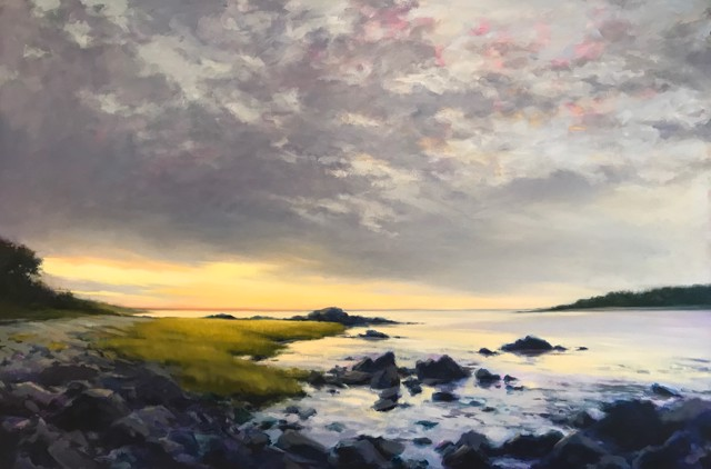 "Margaret Gerding | Timber Point Sunrise | Oil on Canvas | 36"" X 54"" 