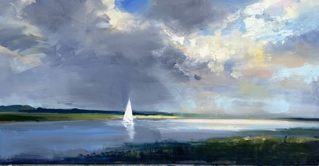 "Craig Mooney | Channel Drift | Oil on Canvas | 24"" X 48"" 