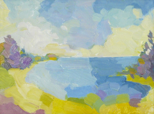 """Henry Isaacs   Curtis Cove, Kennebunk, Maine   Oil   6"""" X 8""""   $750.00"""
