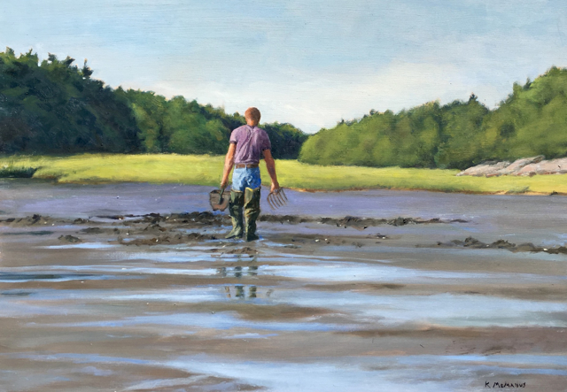 "Karen McManus | Clam Digger | Oil | 13.5"" X 19"" 