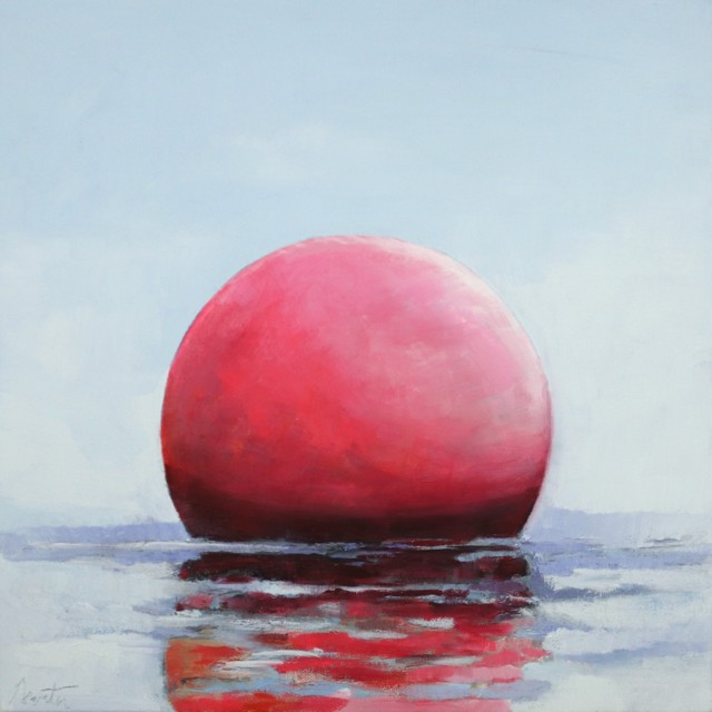 "Ellen Welch Granter | Bubble Gum Pink | Oil on Canvas | 20"" X 20"" 