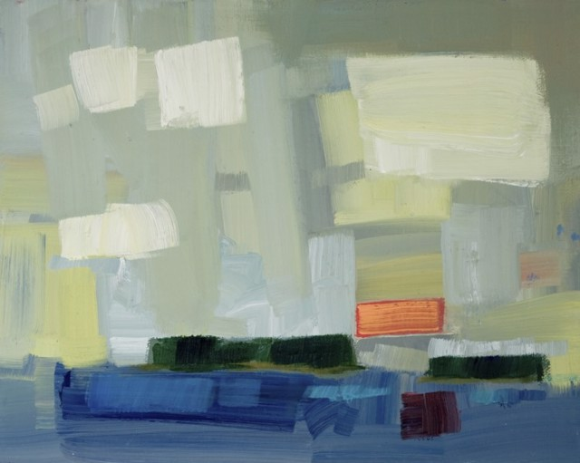 "Philip Frey | Patchwork Clouds | Oil on Linen Panel | 8"" X 10"" 
