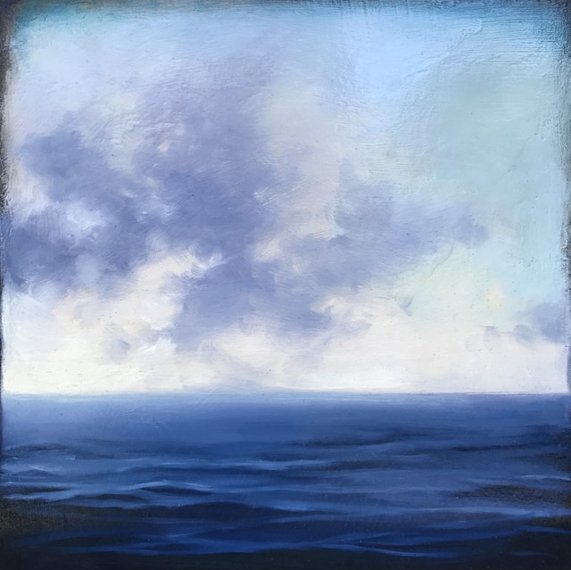 "Margaret Gerding | Ocean Cloud Study I | Oil on Panel | 10"" X 10"" 
