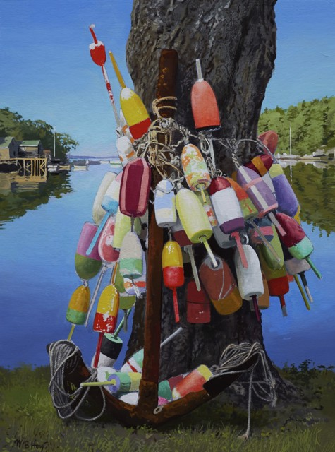"William B. Hoyt | Buoy Tree | Oil | 20"" X 15"" 