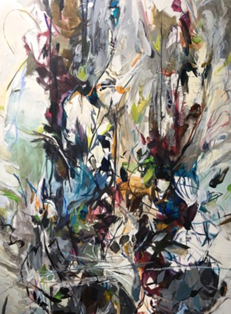 "Jeffrey T. Fitzgerald | Seaweed Lust | Acrylic, Graphite and Charcoal on Canvas | 40"" X 30"" 