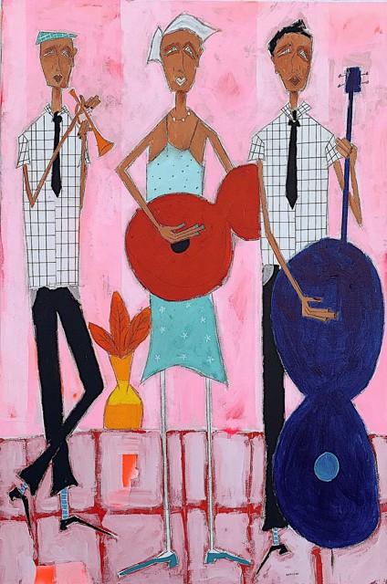 "Rick Hamilton | We Can Rest on Sunday | Acrylic on Canvas | 36"" X 24"" | Sold"