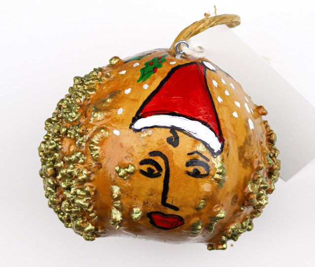 Merry Christmas, 2020 (gourd ornament) by Toni Lane