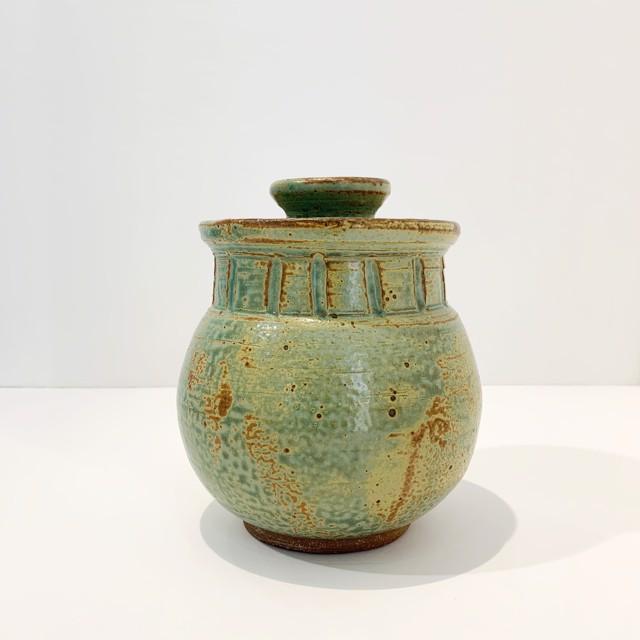 "Richard Winslow | Jade Lidded Vase | Ceramic | 7.25"" X 6"" | $90.00"