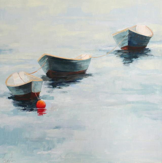 "Ellen Welch Granter | Dories 2 | Oil on Panel | 20"" X 20"" | Sold"