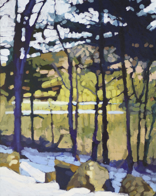 "Liz Hoag | View From the Trail | Acrylic | 20"" X 16"" 