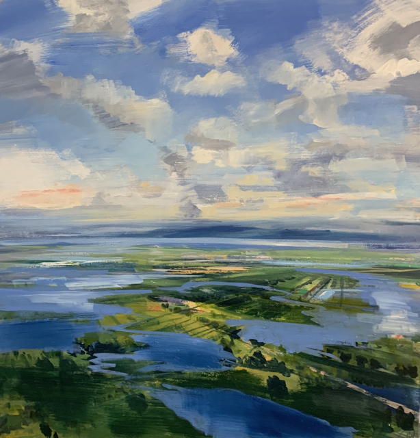 "Craig Mooney | Earth Meets Sky | Oil on Canvas | 44"" X 44"" 