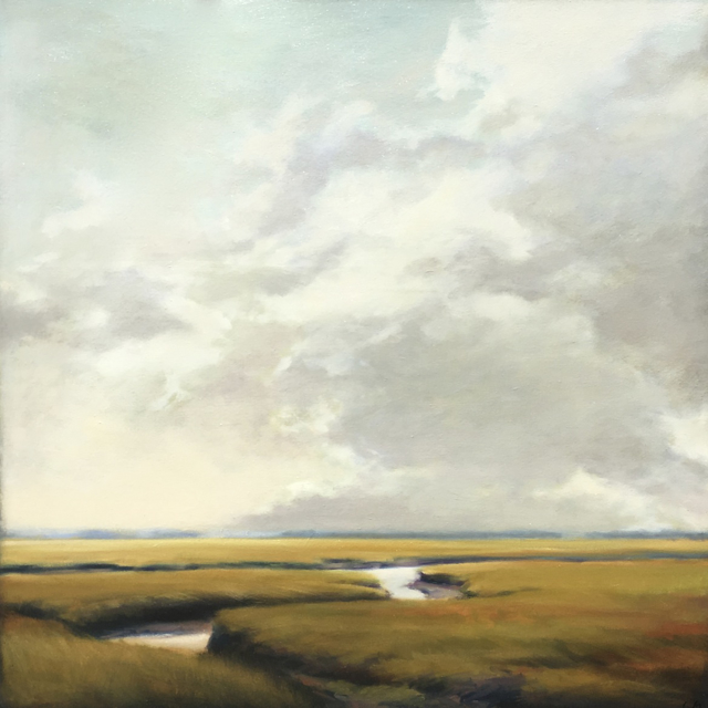 "Margaret Gerding | Marsh I | Oil on Panel | 36"" X 36"" 