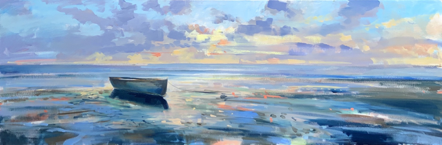 "Craig Mooney | Dory Light | Oil | 20"" X 60"" 