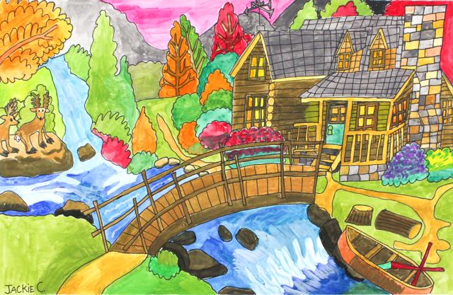 Bridge to the Cottage House