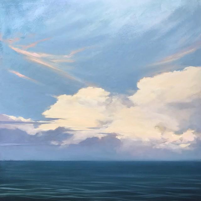 "Margaret Gerding   Majestic Sky II   Oil on Canvas   24"" X 24""   Sold"