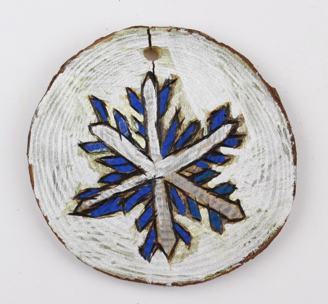 Snowflake/House ornament