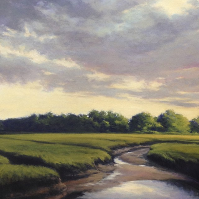 "Margaret Gerding | Marsh Sky IV | Oil on Canvas | 40"" X 40"" 