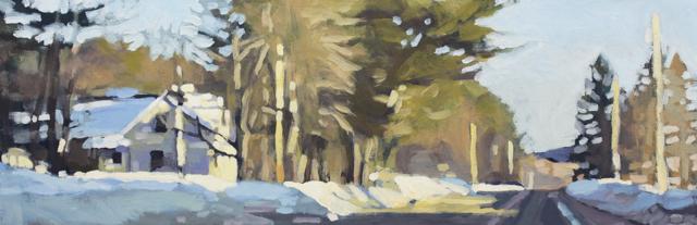 "Liz Hoag | Afternoon Sun | Acrylic | 12"" X 36"" | Sold"