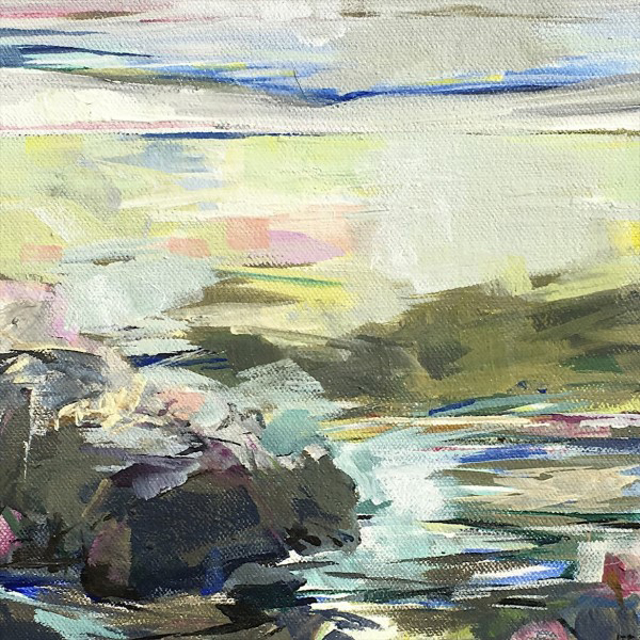 "Jeffrey T. Fitzgerald   July   Acrylic   8"" X 8""   Sold"
