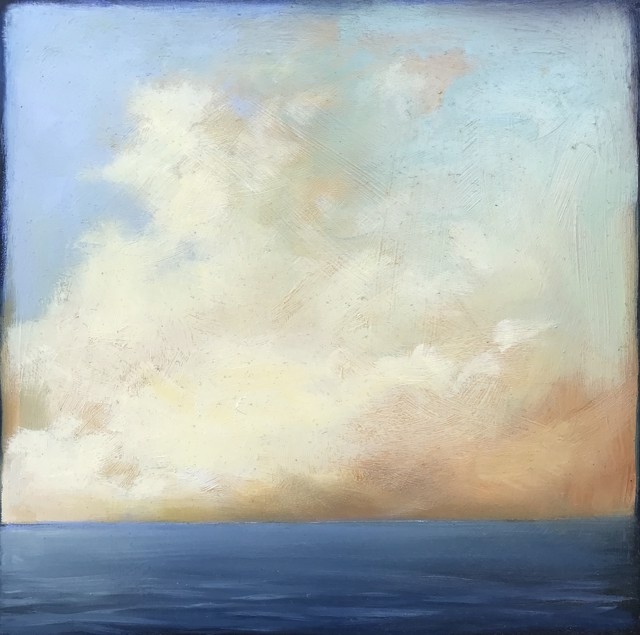 "Margaret Gerding | Ocean Sky Study II | Oil on Panel | 10"" X 10"" 