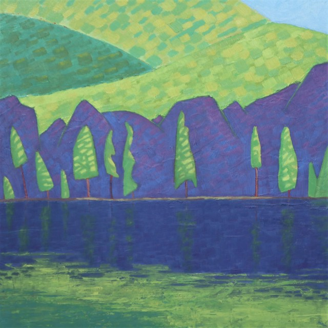 "R. Scott Baltz | Across The Pond | Oil on Panel | 16"" X 16"" | $1,600.00"