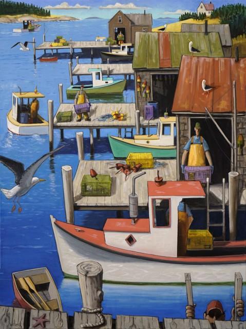 Bustling Harbor