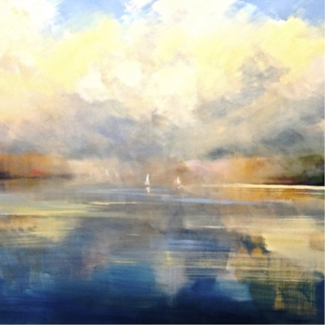 "Craig Mooney | Basin Harbor | Oil | 60"" X 60"" 